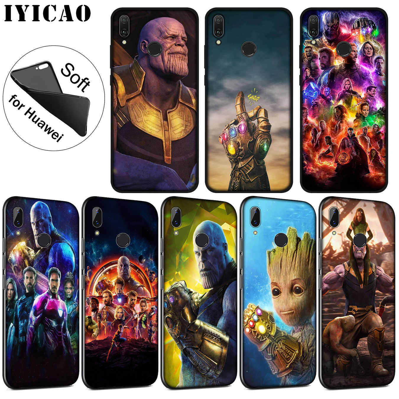 IYICAO Thanos vs avengers Endgame Marvel Soft Silicone Case for Huawei P30 P20 Pro P10 P9 P8 Lite Mini 2017 2016 P smart Z 2019
