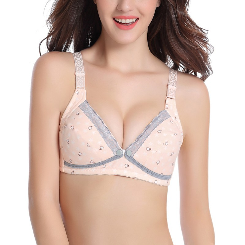 New Womens Bra Breastfeeding Cotton Maternity Front Buckle Wireless Pregnant Woman Nursing Bra Sleep Brassiere For Pregnant W2