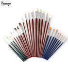 Bianyo 25 PCS Painting Brushes Sets 25 Different Sizes Brush Value Sets For Oils Acrylic Watercolor Students Artist Supplies