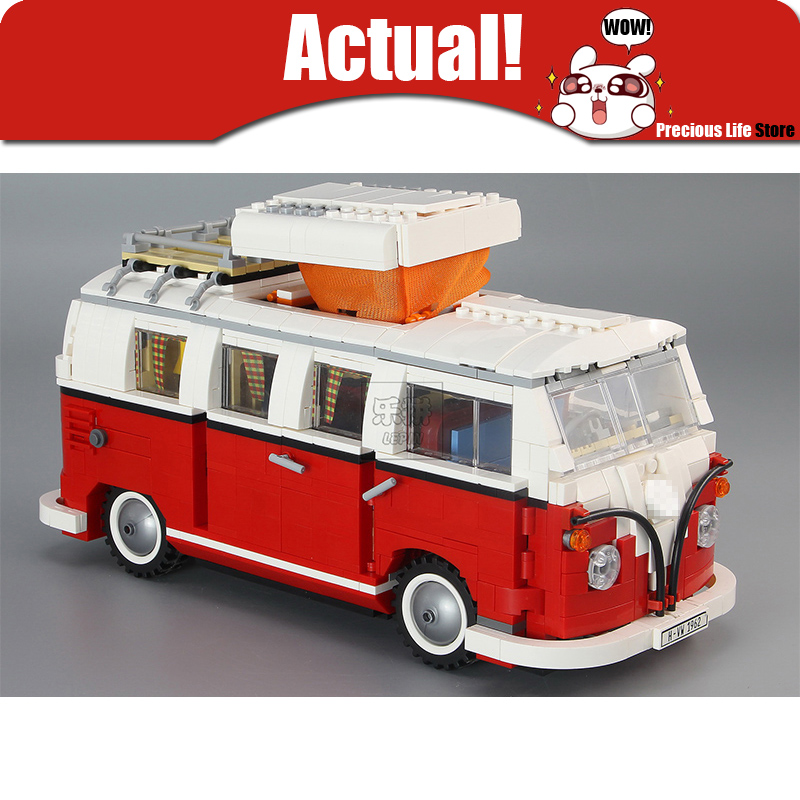 Lepin Technic Creator T1 Camper Van Mini Scale Model Cooper Building Blocks Bricks Kits Toys for children Compatible with 10220 free shipping lepin 21002 technic series mini cooper model building kits blocks bricks toys compatible with10242