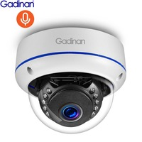 Gadinan H.265 2MP 3MP 5MP Audio Pickup IP Camera CCTV White Vandalproof Dome Outdoor Surveillance Camera Motion Detection FTP
