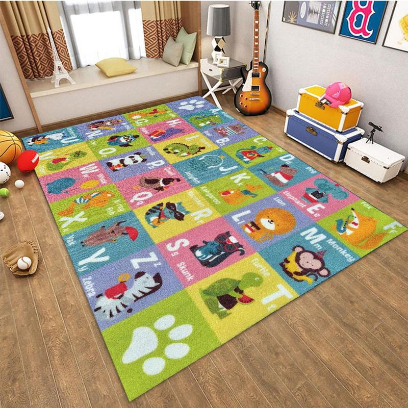 Baby Intelligence Playmats Kids Rug Developing Flannel Mat Baby Gym Playmat Toys For Children Cognition Playmat Puzzles Carpets