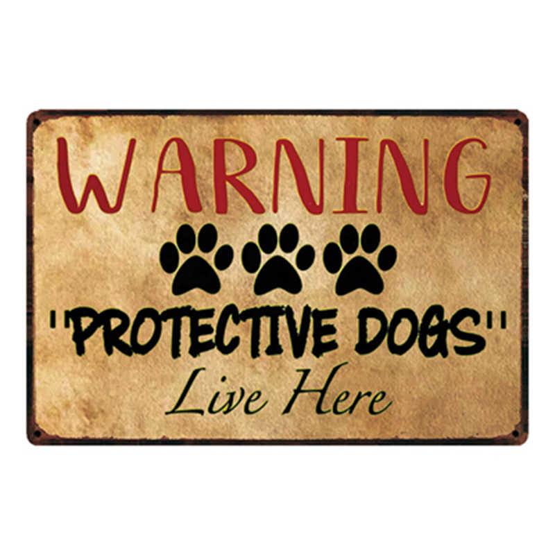 [Kelly66] لوحة فنية للمنزل خالية من الكلاب مع ملصق معدني على شكل صفيح لتزيين المنزل لوحة جدارية مقاس 20*30 سم طراز Dy45