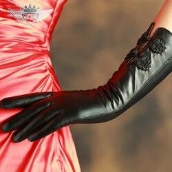 Бренд KLSS, женские перчатки из натуральной кожи, высокое качество, перчатки из козьей кожи, элегантные черные, Ретро стиль, с пряжкой, женские ...