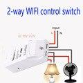 Sonoff Dual 2 canales WiFi smart switch inalámbrico, 10A/220 V interruptores de Control Remoto con temporizador A Través de Android IOS potencia Máxima 3500 w