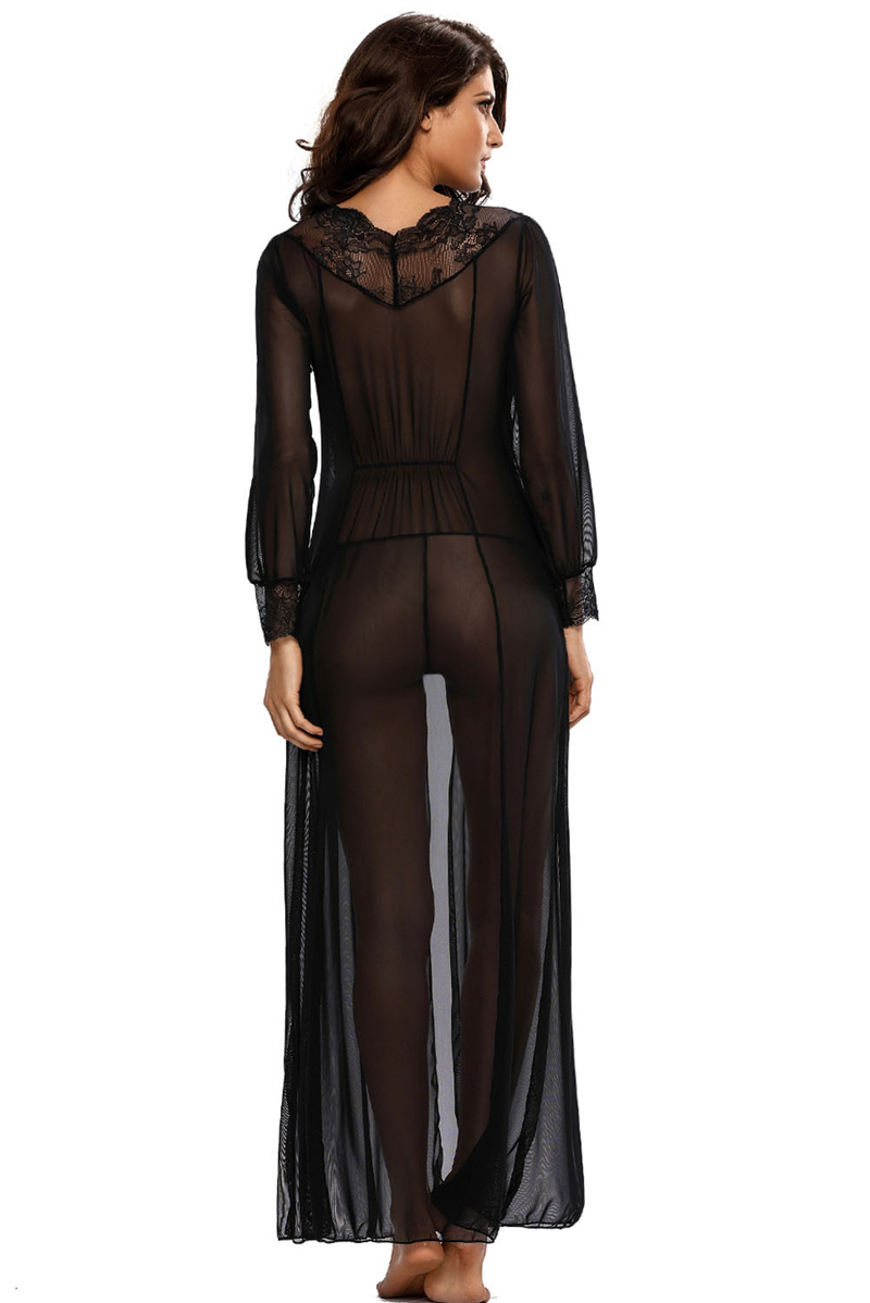 Sheer-Long-Sleeve-Lace-Robe-with-Thong-LC31037-2-5