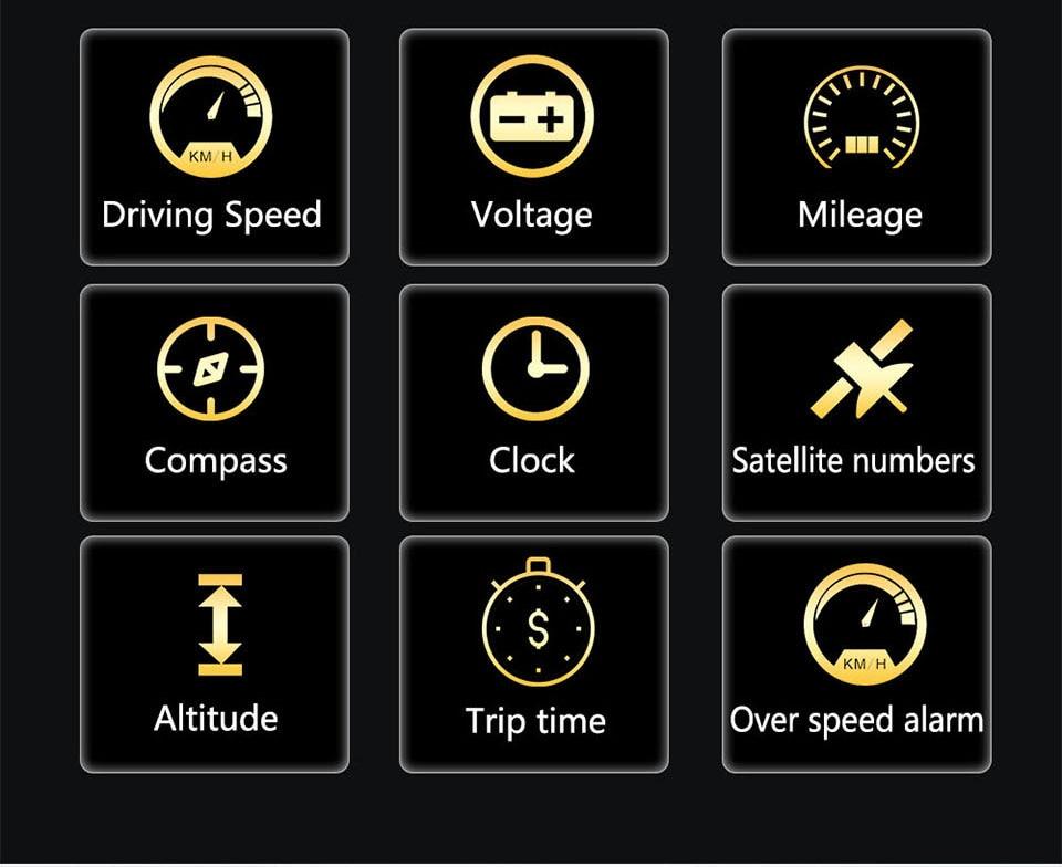 Original VJOYCAR C500 OBD2 Hud T900 GPS Head Up Display Projector Digital Car Speed Projector On-Board Computer Fuel Mileage 19