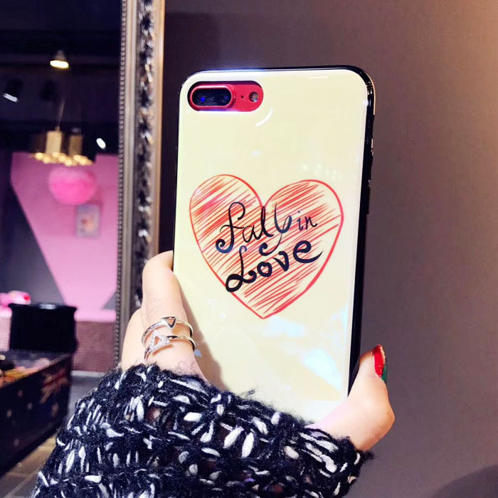 Love Electroplate Blue Light Soft Phone Cover for iPhone X 6 6s 7 8 Moon Planet Space Silicone Case for iPhone 6 6s 7 8 Plus