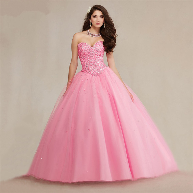 2016 Beaded Crystal Hot Pink Quinceanera Dresses Dress 15 Years Sweet 16 Custom Bodice Mint Green Or White Quinceanera Dresses Pink Quinceanera Dresses White Quinceanera Dresshot Pink Quinceanera Dresses Aliexpress
