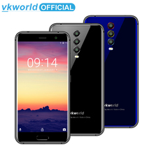 VKworld K1 4 GB + 64 GB Cep Telefonu Yüz KIMLIK Parmak Izi 5.2 inç Android 8.1 MTK6750T Octa Çekirdek Kablosuz şarj Çift SIM Sma...