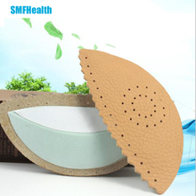 1 pair / 2016 Latest leather foot care pad halfway booster cushion insole arch foot pad foot care productszZ29901