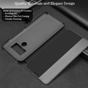 Image 5 - Smart View Flip P40pro Case For Huawei P40 P30 P20 Mate 10 20 Pro Lite Plus Original Luxury Genuine Leather Official Phone Cover