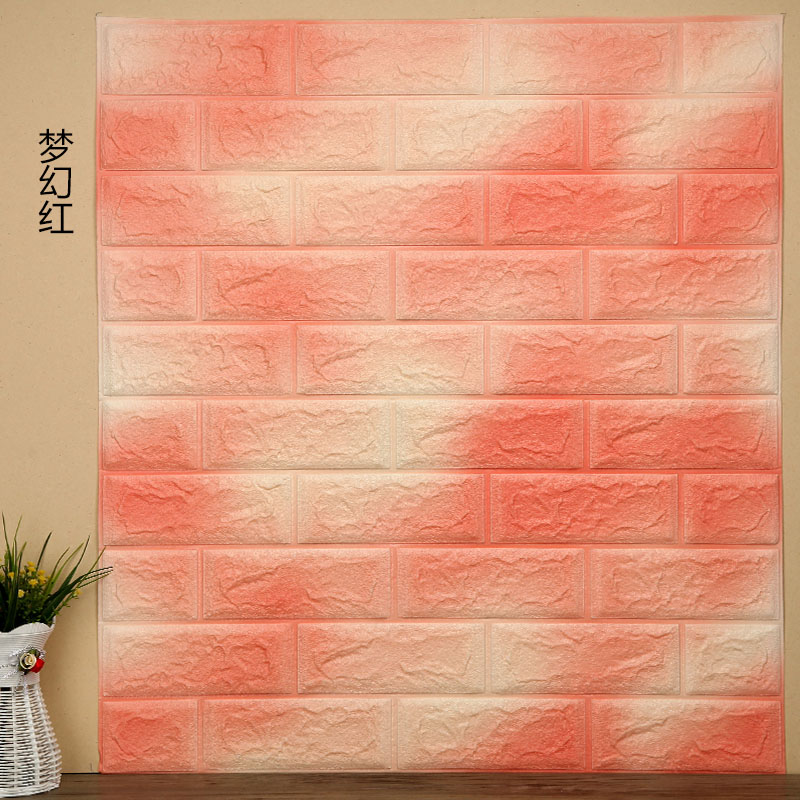 70cmX77cm Wall Sticker PE Foam Decorative 3D Sticker Self Adhesive Wallpaper DIY Brick Living Room Kids Safty Bedroom Home Decor