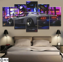 Hot Sales Without Frame 5 Panels Picture Top-level Sports Car Canvas Print Painting Artwork Wall Art Wholesale