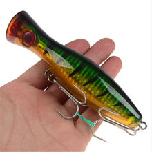 1 Pcs 12 Cm 40G Big Popper Umpan Pancing Crankbait Iscas Buatan Wobblers Abs Hard Umpan Pesca Bass Carp pike Fishing Tackle(China)