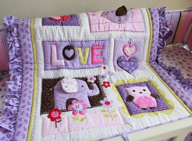 Baby Crib Bedding Set 100 Cotton 7 Pieces Baby Bedding