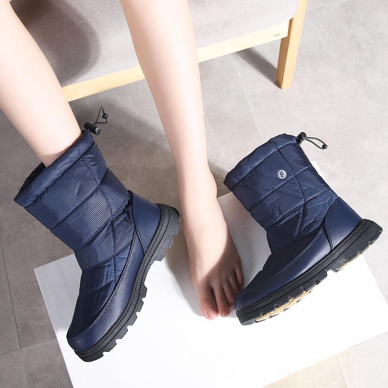 d455fde518f TKN Women Winter Snow Boots Krasovki High Boots Warm Fur Plush Rubber Shoes  Woman Sneakers Mid-Calf Waterproof Rain Boots 1811