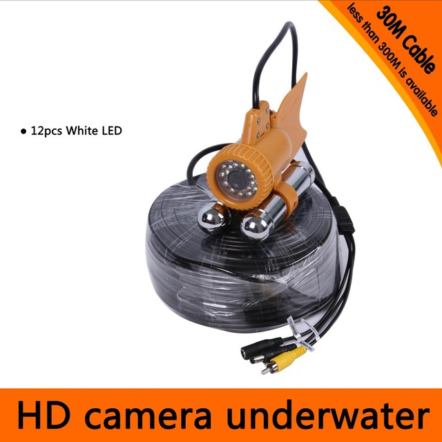 30Meters Depth Underwater Camera with Dual Lead Rodes for Fish Finder & Diving  Camera Application