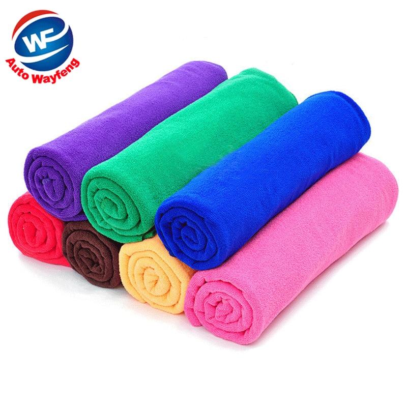 7pcs/lot High Quality Microfiber Towel Car Cleaning Wash Clean Cloth Car 50x25cm Towels Microfiber Care Car Wash Towel