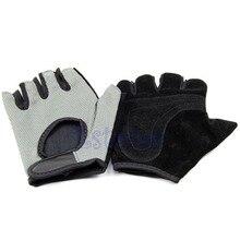 B39 Обучение Бодибилдинг Фитнес Тяжелая Атлетика Упражнение Спорт Mesh Половины Пальцев Перчатки