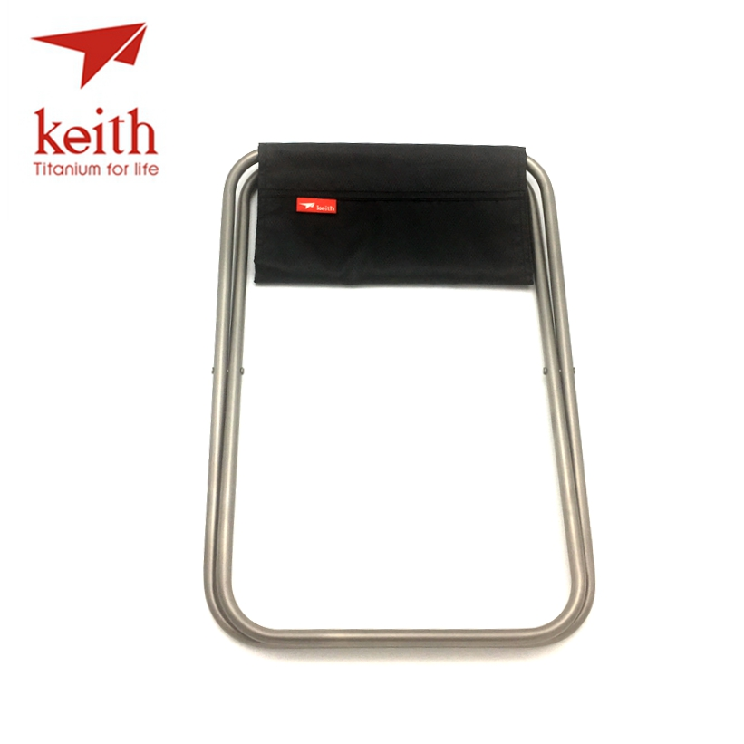 Keith Pure Titanium Folding Chair Super Light Portable Outdoor For Hiking Camping Fishing Only 247g