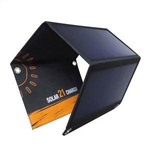 Image 2 - KERNUAP 15W 21W 28W 휴대용 태양 열 충전기 휴대 전화 캠핑 여행 Foldable Sunpower 패널 듀얼 USB 포트로 충전