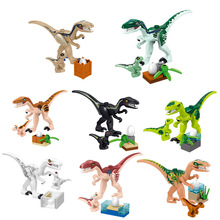8pcs 39154 Jurassicc park Building Block bricks Dinosaur pterosaur Indomirus T-Rex Triceratops Brick baby toys children gift
