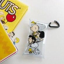 INS Горячая Rogue Dog Прозрачная ПВХ маленькая сумка-карандаш Kawaii карманная сумка для хранения кошелек карта Упаковка обучающий инструмент для хранения
