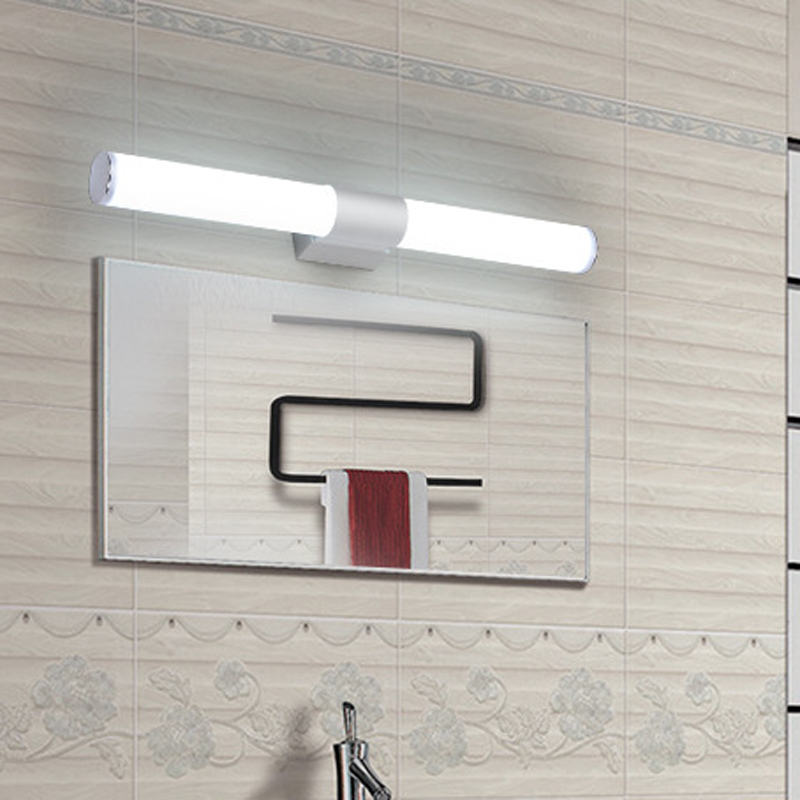 Wall lamps bathroom led mirror light Waterproof 12W 16W 22W 250~550mm AC85-265V LED tube Modern Wall lamp Bathroom Lighting 12w 16w 22w modern minimalist led metal wall lamp bedside lamp corridor aisle mirror bathroom light white