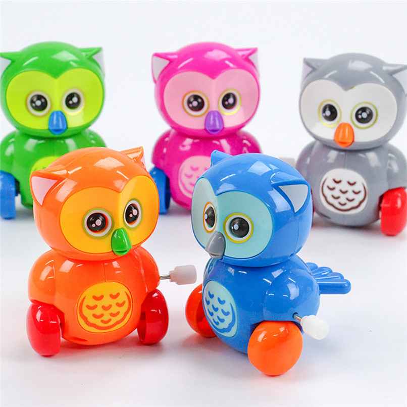 Random Color Education Toy Clockwork Wind Up Cartoon the Owl Toy Kids Early Education Developmental Puzzle Toy wholesale JY03#F цены