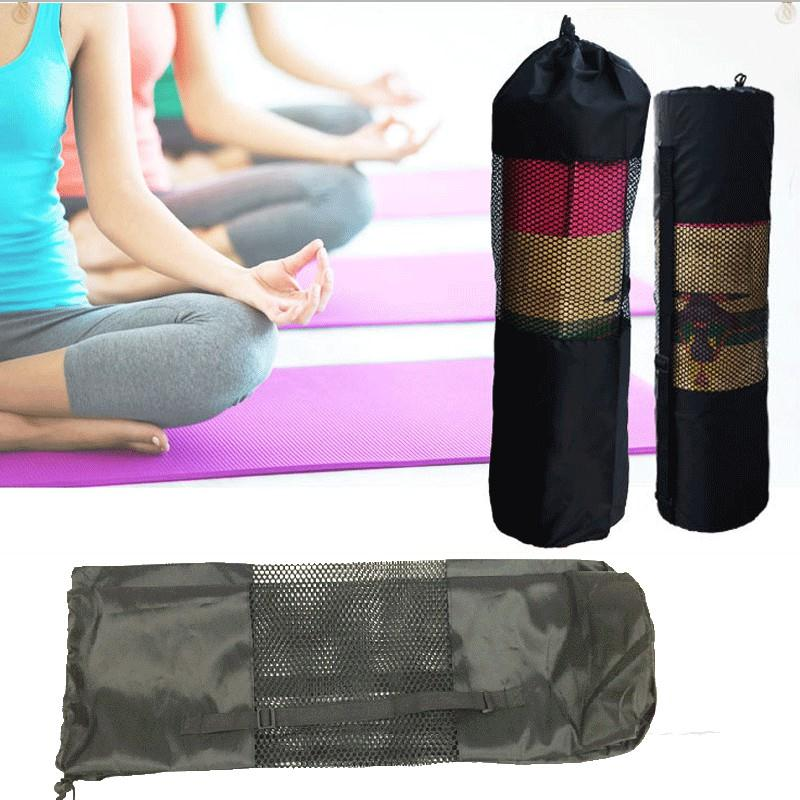 Ropa, Calzado Y Complementos Able 60*20cm Nylon Strap Exercise Gym Fitness Pilates Yoga Mat Carring Bag Carrier Backpack Carriers Bag Portable Black Network Gym