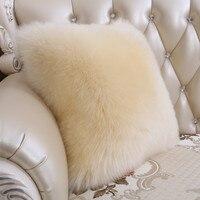Owczej wełny poduszki łóżko poduszki kanapy poduszki z wełny futro poduszka pad samochód poduszka wkładka poduszki dekoracyjne