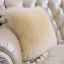 Sheepskin wool pillow bed pillow sofa cushion wool fur cushion pad car back cushion insert cushion decorative