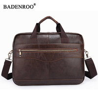 2018 Men Briefcases Men's Genuine leather bag for laptop Male Crossbody business portfol High quality fashion Tote bags Casual