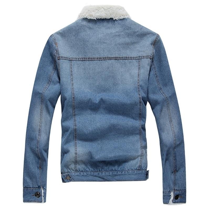 HTB14LOfXvjsK1Rjy1Xaq6zispXa0 Men Jacket and Coat Trendy Warm Fleece Denim Jacket 2019 Winter Jean Jacket Thick Winter Coat For Male Classic Solid Outerwear