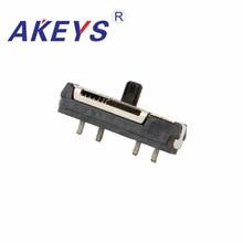 цены 10pcs Hot sale Many types of MSKT-13D18 MINI slide switch 4P3T SMD SMT 4 pin 3 position side slide mini toggle switches