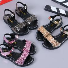 Лидер продаж; сандалии для девочек; модная блестящая обувь для девочек со стразами