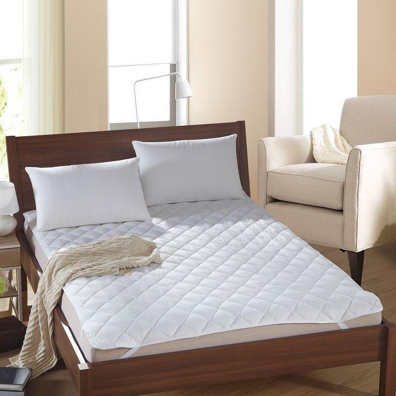 Streng 100% Baumwolle Matratzenauflage Protector Gesteppte Bettlaken Königin König Twin Voll Matratzenbezüge Matratzen