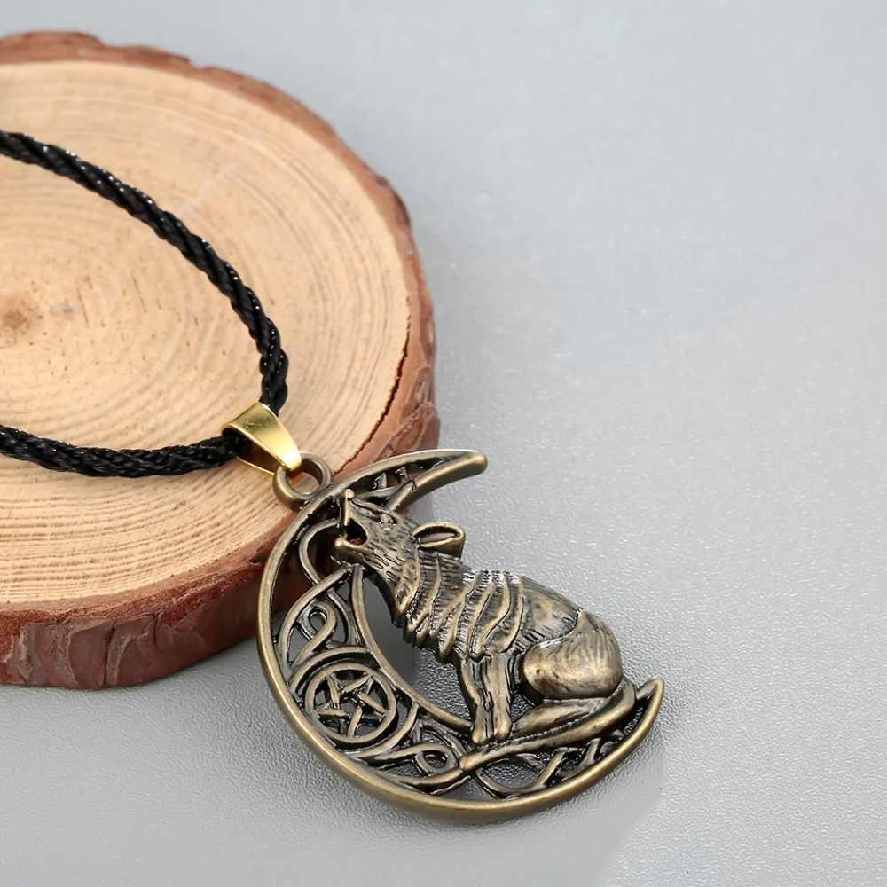 CHENGXUN Valknut Odin's สัญลักษณ์นอร์สไวกิ้งชาย Cat Moon Moon จี้สร้อยคอเครื่องประดับ Hip hop แฟชั่น Collier