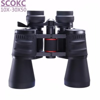 Free Shipping Scokc10 30X50 Hd Professional Night Vision Wide Angle Binoculars High Quality Zoom And Not