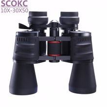 Scokc 10-30X50 Power Zoom Бинокль для охоты Профессиональный Монокуляр телескоп высокое качество бинокль телескоп