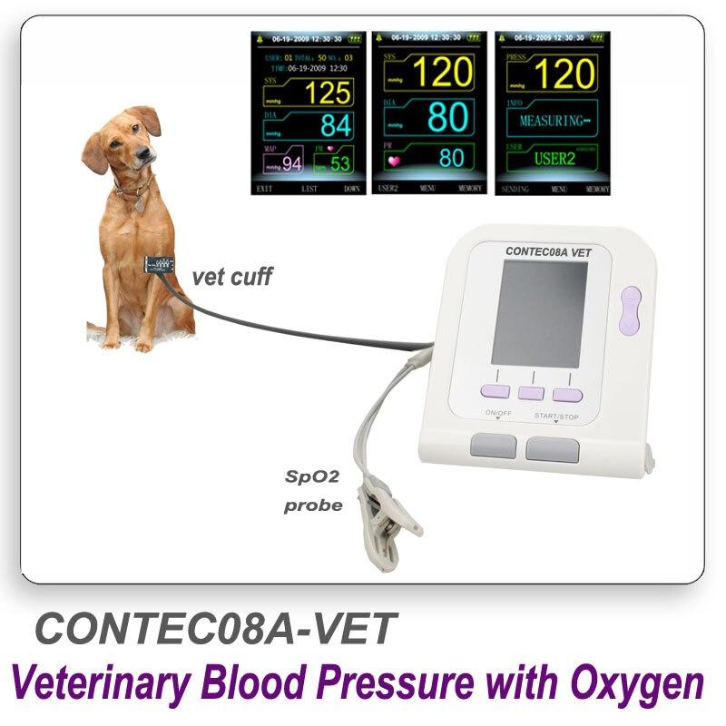 CONTEC08A Numérique Vétérinaire PNI Moniteur de Pression Artérielle et pluse oxymètre sonde Animal BRAS Circuference Manchette pour VÉTÉRINAIRE