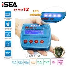 HTRC iMax B6 Mini V2 80W dijital şarj RC pil şarj cihazı deşarj PB Lipo Lihv LiIon LiFe NiCd NiMH akıllı şarj cihazı