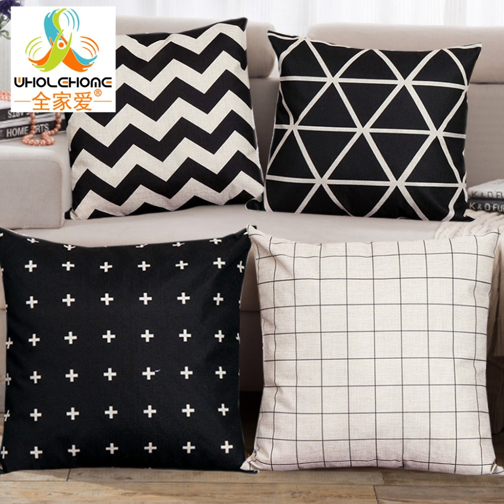 polka dot pillows promotionshop for promotional polka dot pillows  -  pcs cm lovely style striped cushions linen cushion cover creative polkadots pillow for living room bed room