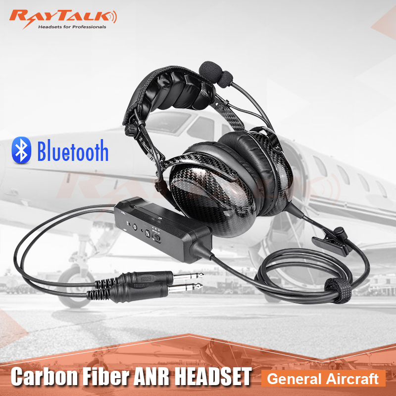 6c8778d42e7 Bluetooth Carbon Fiber aviation headset with Electret microphone,Ultra  comfortable Faux Leather Cushions