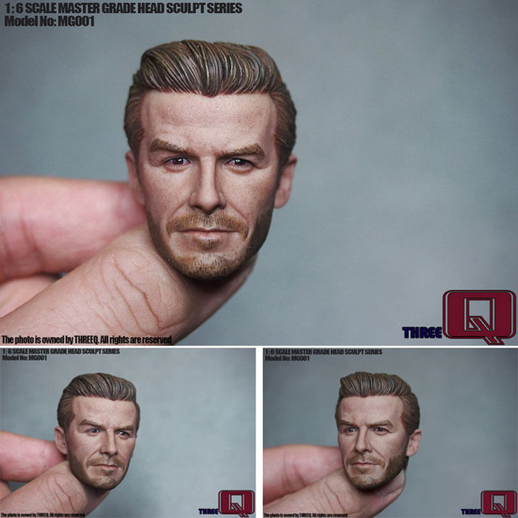 THREEQ MG001 Beckham David 1/6 Soldier David Beckham Middle-aged Version Head Carving Model for 12 Action Figure Toys Accessori 1 mg 6 в н новгороде