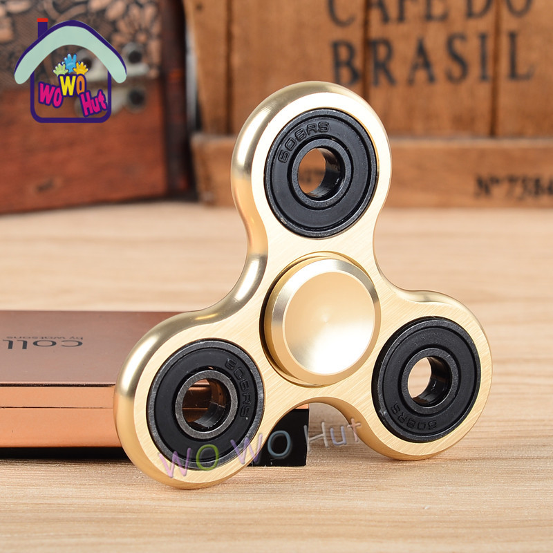 Puzzle Toys Tri Spinner Fidget Toy Aluminum EDC Hand Spinner For Autism and ADHD 5 Styles