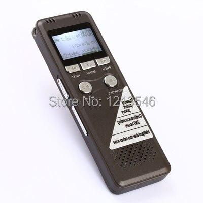 8GB Digital Voice Recorder Professional Grey USB 2.0 Multi Language Long recording Equipment With WMA/WAV/MP3 Player