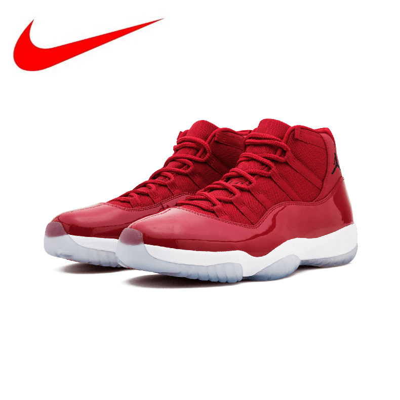 online retailer e27af a6276 Original New Arrival Authentic Nike Air Jordan 11 Retro Win Like 96 Men s  Basketball Shoes Sneakers Sports AJ11 378037 623-in Running Shoes from  Sports ...