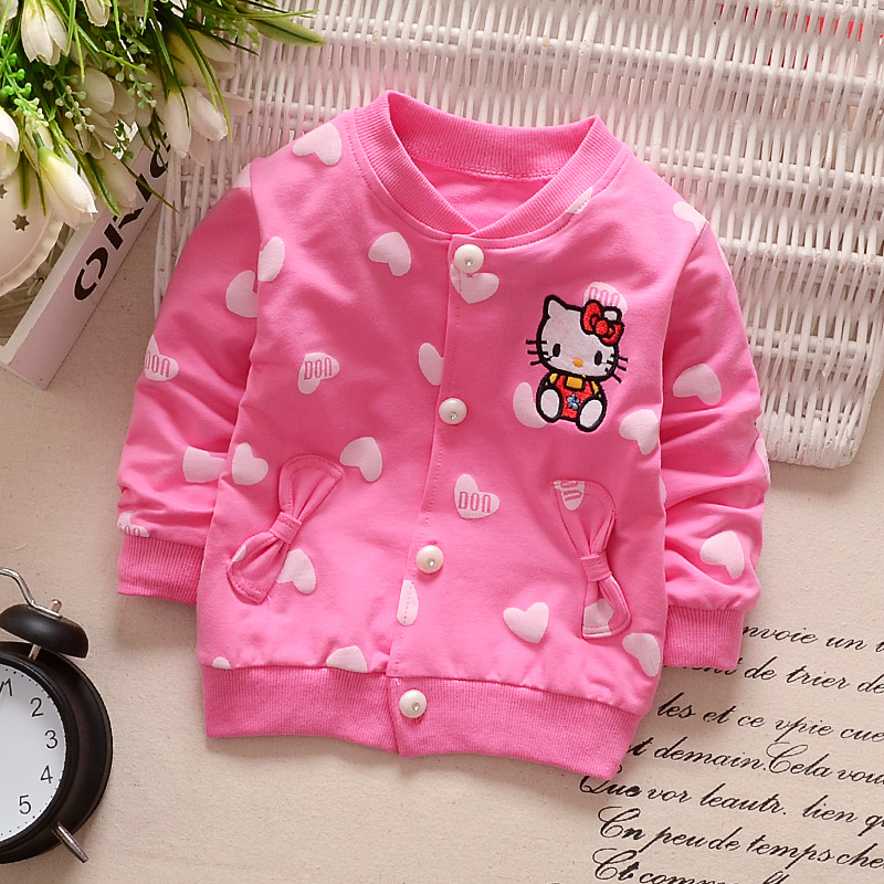 Retail 2016 new Baby girl Hoodies Coats Hello Kitty